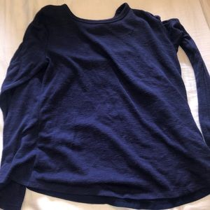 simple navy sweater